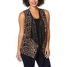 """""""As Is"""" Brittany Humble Reversible Open Drape Front Vest"""
