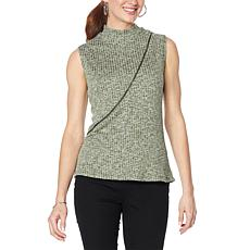"""""""As Is"""" Brittany  Humble Zippered Mock-Neck Top"""
