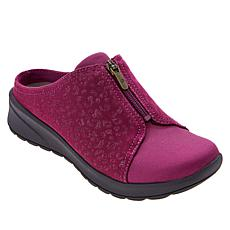 """""""As Is"""" Bzees Glossy Washable Zip Front Slip-On Mule"""