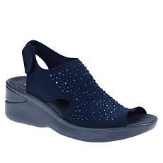 """As Is"" Bzees Saucy Embellished Peep-Toe Sandal"