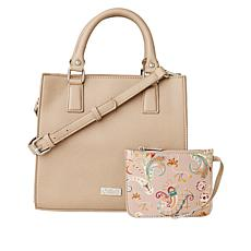 """""""As Is"""" Carlos by Carlos Santana Boxy Satchel with Wristlet Pouch"""