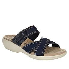 """As Is"" Clarks Collection Alexis Art Leather Sporty Sandal"