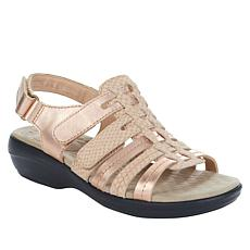 """""""As Is"""" Clarks Collection Alexis Blossom Leather Sandal"""