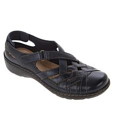 """""""As Is"""" Clarks Collection Cora Dream Leather Fisherman Sandal"""