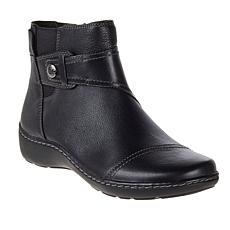 """""""As Is"""" Clarks Collection Cora Tropic Casual Leather Ankle Boot"""
