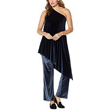 """""""As Is"""" Coldesina Genevieve 2-piece Velvet Top and Pant"""