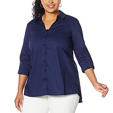 """As Is"" Colleen Lopez Bow Back Button-Down Blouse"