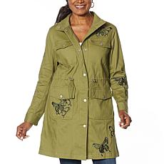 """""""As Is"""" Colleen Lopez Butterfly Anorak Jacket with Pockets"""