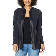 """""""As Is"""" Colleen Lopez Coated Detail Zip-Front Jacket"""