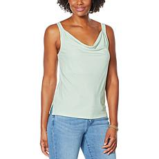 """As Is"" Colleen Lopez Crepe Cowl-Neck Cami"