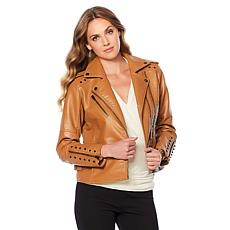 """As Is"" Colleen Lopez Effortlessly Edgy Faux Leather Jacket"