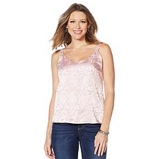 """As Is"" Colleen Lopez Embossed Tank with Scalloped Neckline"