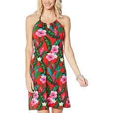 """""""As Is"""" Colleen Lopez Floral Print Halter Dress"""