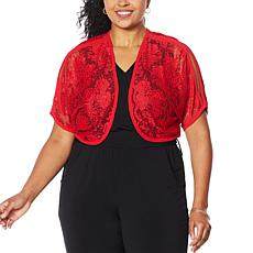 """As Is"" Colleen Lopez Lace Bolero Topper"