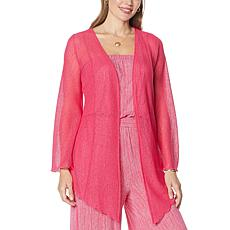 """""""As Is"""" Colleen Lopez Long-Sleeve Raschel Lace Cardigan"""