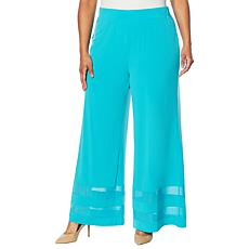 """""""As Is"""" Colleen Lopez Mesh Inset Palazzo Pant"""