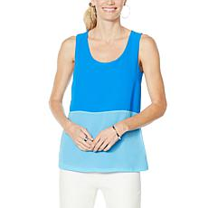 """""""As Is"""" Colleen Lopez Mixed Media Colorblock Tank"""
