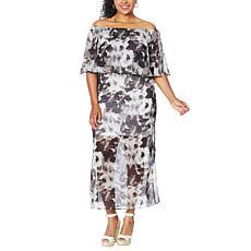 """As Is"" Colleen Lopez Off-the-Shoulder Flutter Dress"