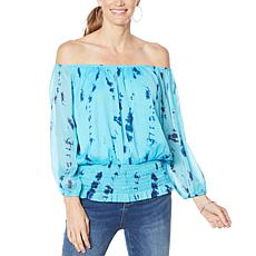 """As Is"" Colleen Lopez Off-the-Shoulder Peasant Blouse"
