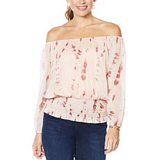 """""""As Is"""" Colleen Lopez Off-the-Shoulder Peasant Blouse"""