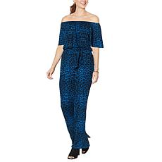 """As Is"" Colleen Lopez Off-the-Shoulder Wide-Leg Jumpsuit"