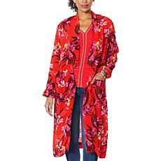 """""""As Is"""" Colleen Lopez Open Front Blazer Cardigan with Pockets"""