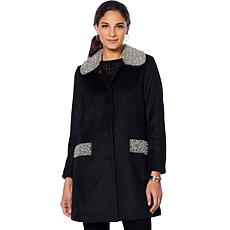 """""""As Is"""" Colleen Lopez Opulence Embellished Wool Coat"""
