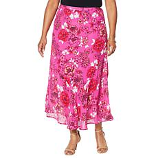 """""""As Is"""" Colleen Lopez Printed Flounce Hem Maxi Skirt"""