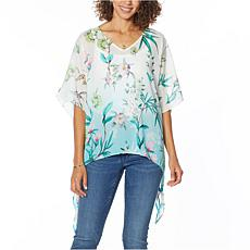 """""""As Is"""" Colleen Lopez Printed Poncho Top"""
