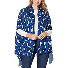 """As Is"" Colleen Lopez Printed Sweater Wrap"