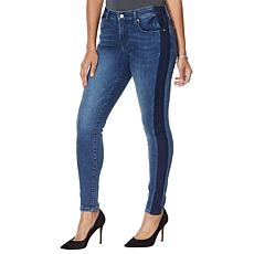 """As Is"" Colleen Lopez Side Stripe Skinny Jean  - Basic"