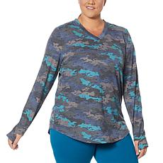 """""""As Is"""" Comfort Code Baby French Terry V-Neck Top"""