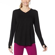 """As Is"" Comfort Code Baby French Terry V-Neck Top"