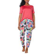 """As Is"" Comfort Code Soft & Light Knit Pajama Set"