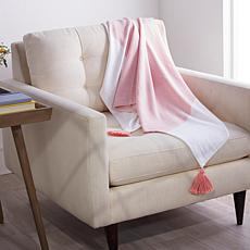 """""""As Is"""" Concierge Collection 100% Cotton Woven Throw with Tassels"""