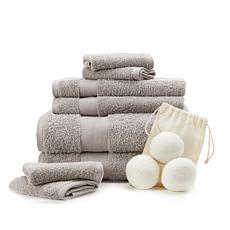 """""""As Is"""" Concierge Collection 8-pc 100% Turkish Cotton Towel Set w/D..."""