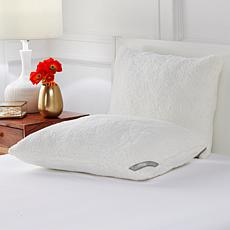 """""""As Is"""" Concierge Collection Sherpa Jumbo 2-pack Pillows"""