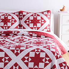 """As Is"" Country Living Home Collection Little Star 3-piece Quilt Set"
