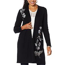 """""""As Is"""" Curations Embroidered Cardigan"""