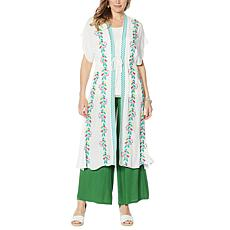 """""""As Is"""" Curations Embroidered Gauze Kaftan"""