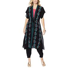 """As Is"" Curations Embroidered Gauze Kaftan"