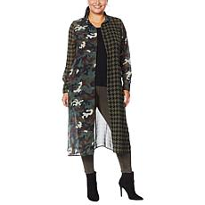 """As Is"" Curations Mixed Print Woven Duster Tunic"