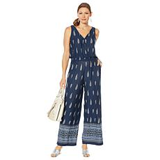 """As Is"" Curations Printed Jumpsuit"