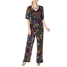 """""""As Is"""" Curations Printed Knit Jumpsuit"""