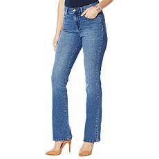 """""""As Is"""" DG2 by Diane Gilman Boot-Cut Jean with Embellished Pockets ..."""