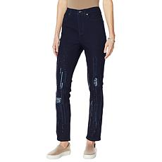 """""""As Is"""" DG2 by Diane Gilman Classic Stretch Sequin Skinny Jean  - B..."""