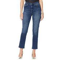 """""""As Is"""" DG2 by Diane Gilman Classic Stretch Straight Ankle Jean - B..."""