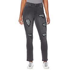 """As Is"" DG2 by Diane Gilman Classic Stretch Tweed Back Skinny Jean"