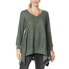"""""""As Is"""" DG2 by Diane Gilman """"DG Downtime"""" Drama Top with Combo Fabric"""