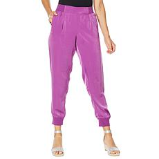 """""""As Is"""" DG2 by Diane Gilman Faux Silk Pull-On Jogger Pant"""